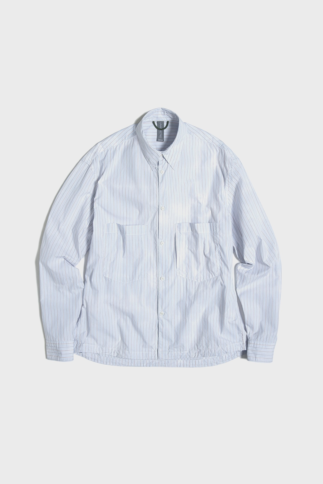 "UNAFFACTED Oversized Shirt ""Cloudy Blue Stripe"""
