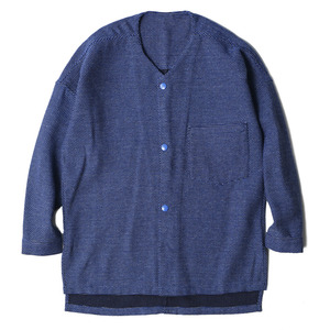 "OOPARTS Punto Cardigan ""Blue Dot"""