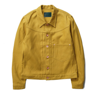 "OOPARTS Oxford Dyed Trucker Jacket ""Mustard"""