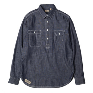 Gooseberry Lay & Co. Charlie Ironworker Pullover Chambray Shirts