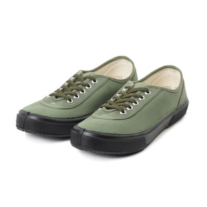 Lace Low cut Olive Canvas/Black