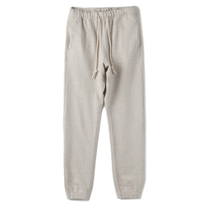 "OOPARTS Cotton-jersey track pants ""Oatmeal"""