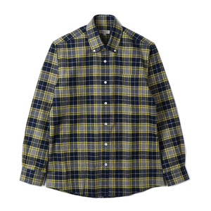 "BANTS TJA Check Flannel B.D Shirt ""Grey"""