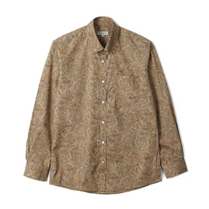 "BANTS TJA Paisley Cotton Shirt ""Beige"""
