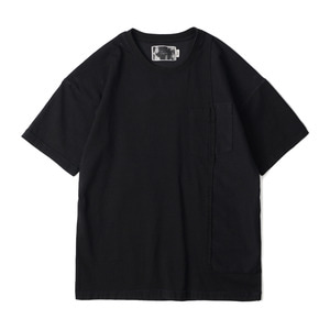 "OOPARTS OPT18SSTP01BK Washed Geometric T-Shirt ""Black"""