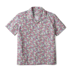 "BANTS GTB Aloha Cotton Open Collar Shirt Half ""Pink"""