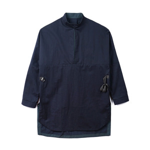 "OOPARTS OPT18FWSH03CH Reversible pullover shirt ""Charcoal"""