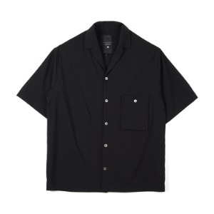 "OOPARTS Simple open-collar Pocket shirts ""Black"""