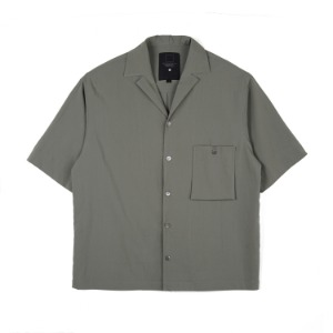 "OOPARTS Simple open-collar Pocket shirts ""Olive"""