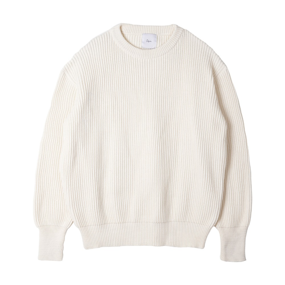 "OOPARTS   Back printing knit ""Ivory"""