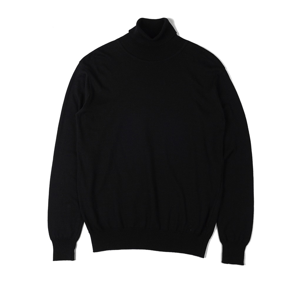 "OOPARTS  Soft Roll Neck Sweater ""Black"""