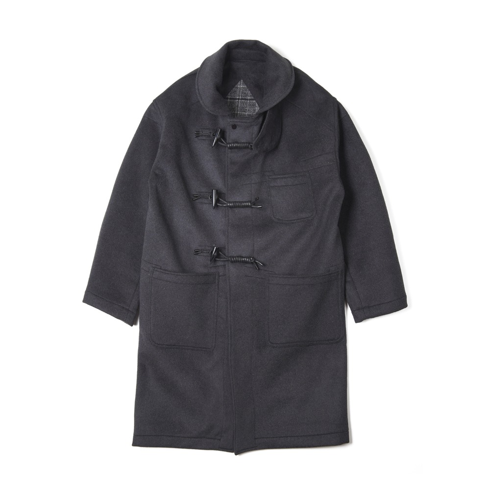 "OOPARTS Overfit Sailor Collar Duffle Coat ""Chacoal"""