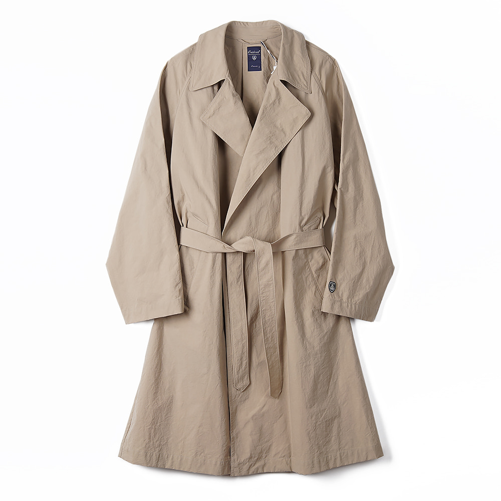 "ORCIVAL Buttonless Chester Coat ""Beige"""