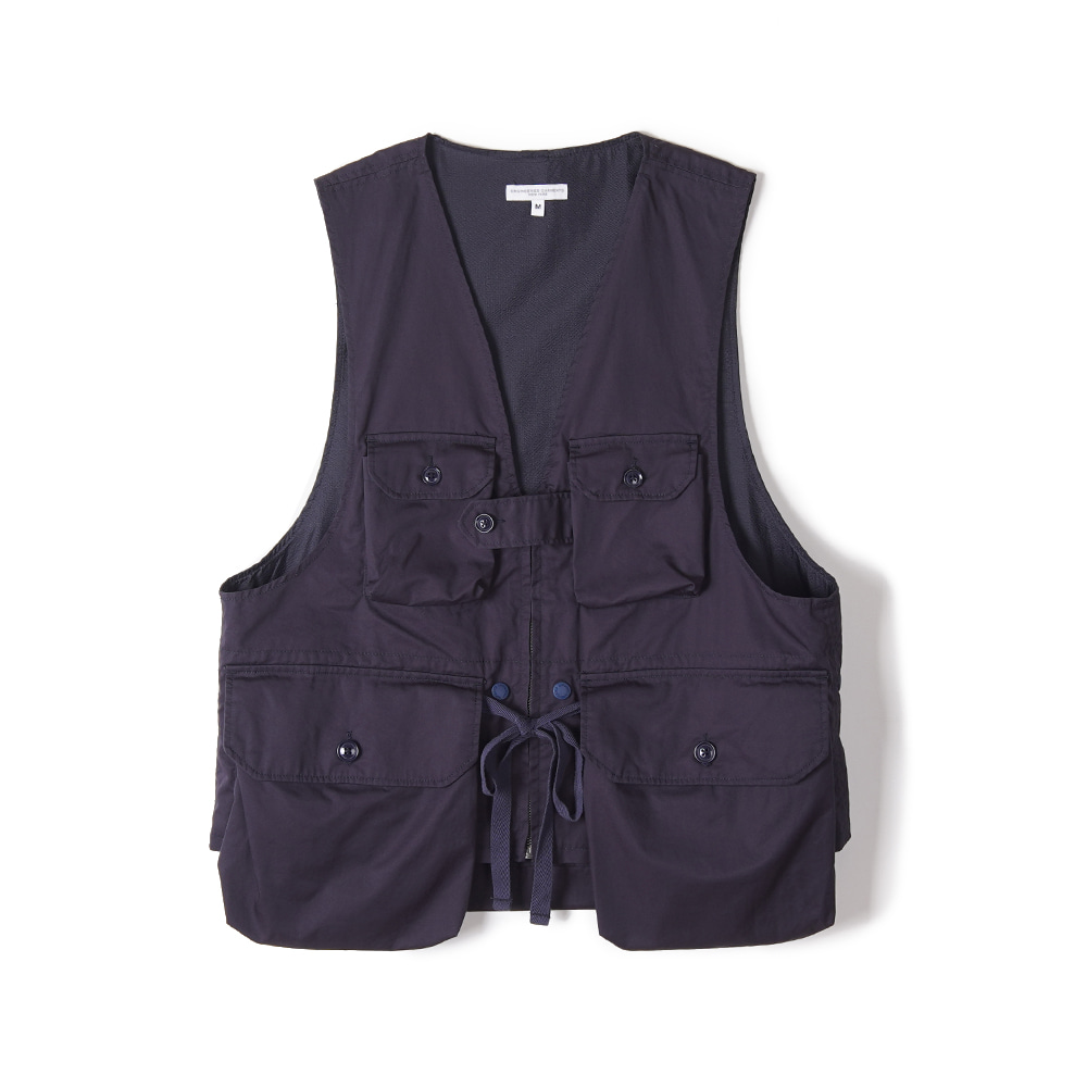 "ENGINEERED GARMENTS Game Vest ""Dk.Navy High Count Twill"""