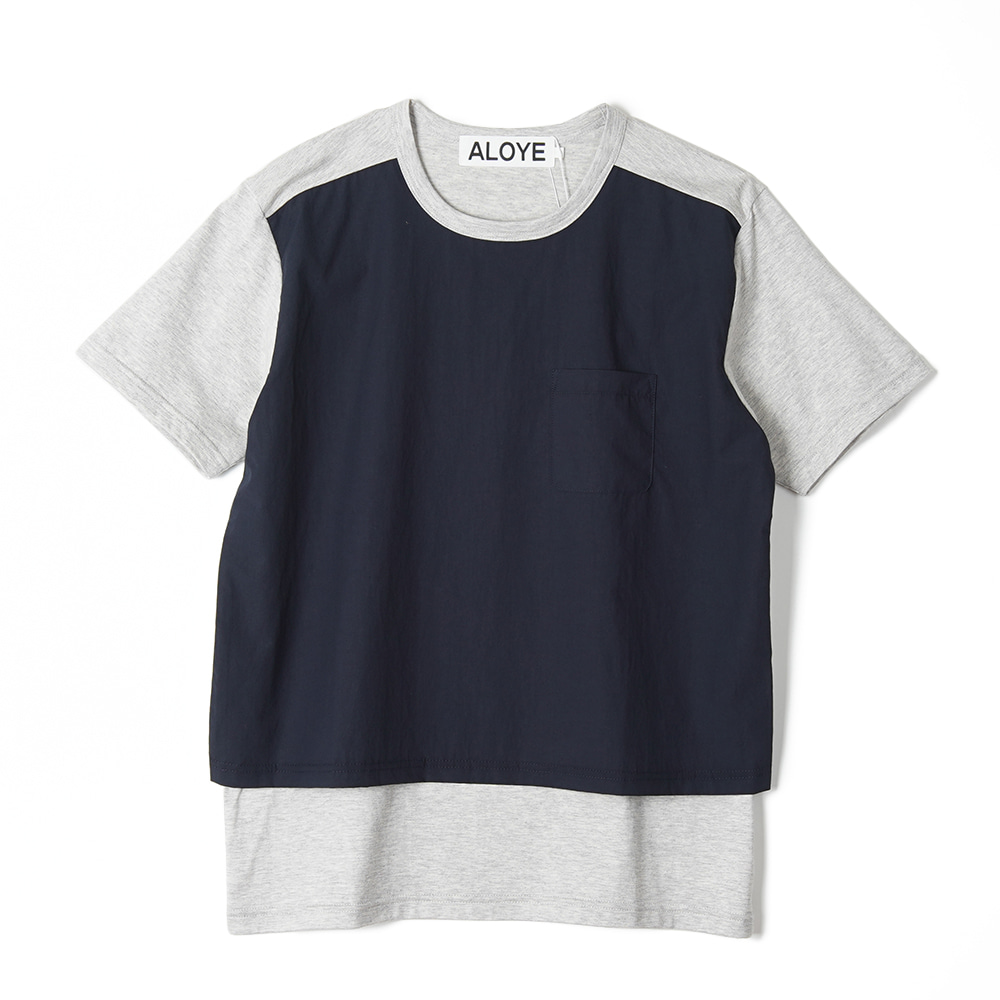 "ALOYE Shirt Fabrics Short Sleeve T-shirt ""Heather Grey"""