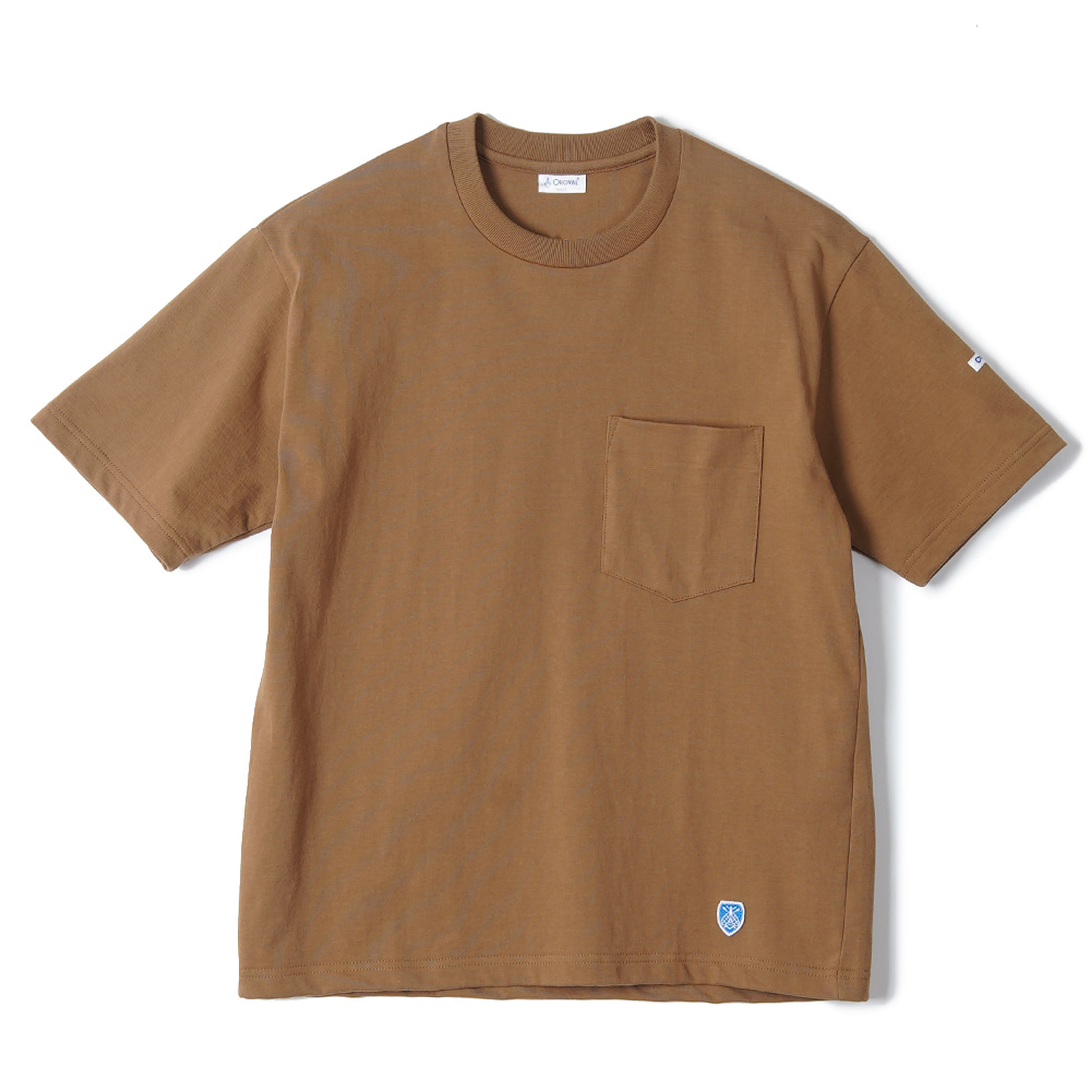 "ORCIVAL High Count Cotton Solid Tee ""Camel"""