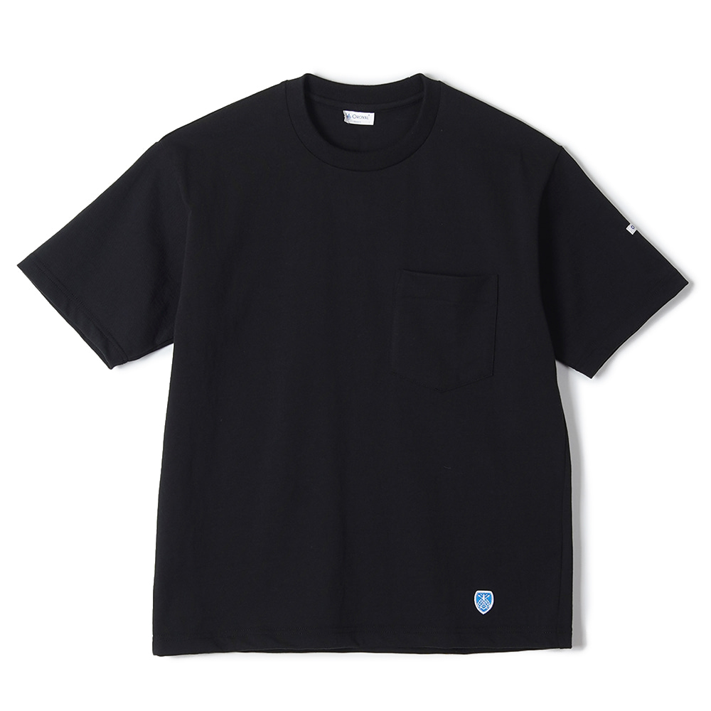 "ORCIVAL High Count Cotton Solid Tee ""Black"""