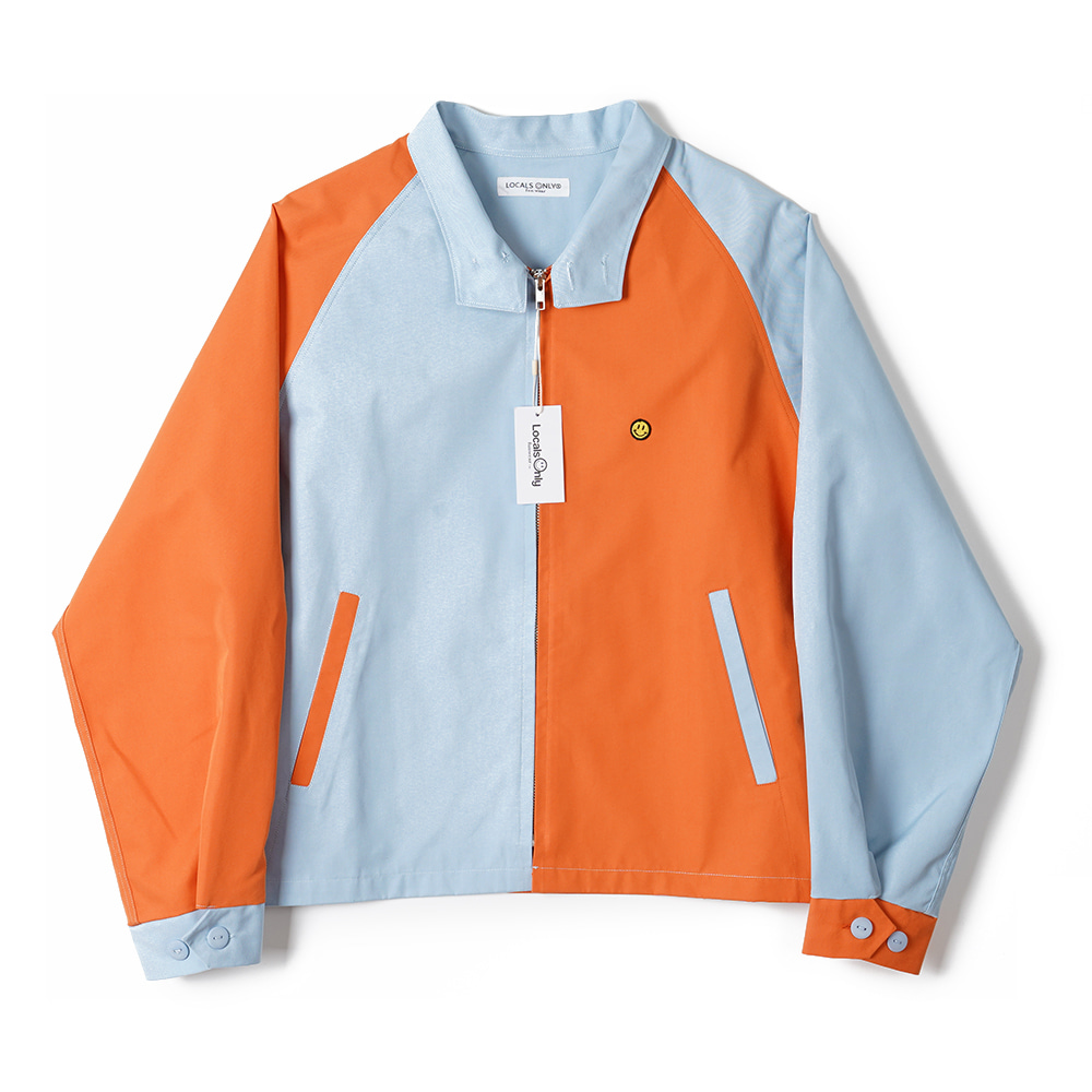 "LOCALS ONLY Two Face Drizzler Jacket ""Orange/Skyblue"""
