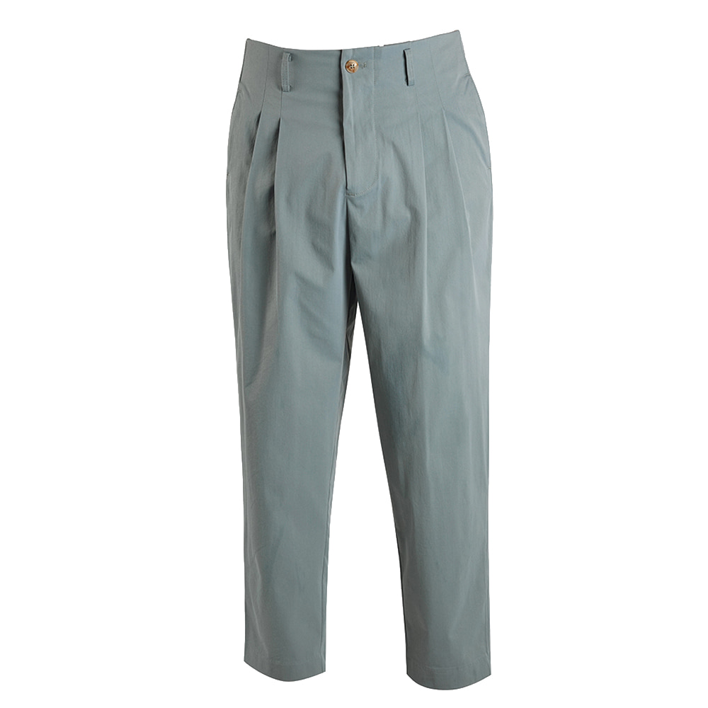 "OOPARTS carrot-fit cropped pants ""Sky Blue"""