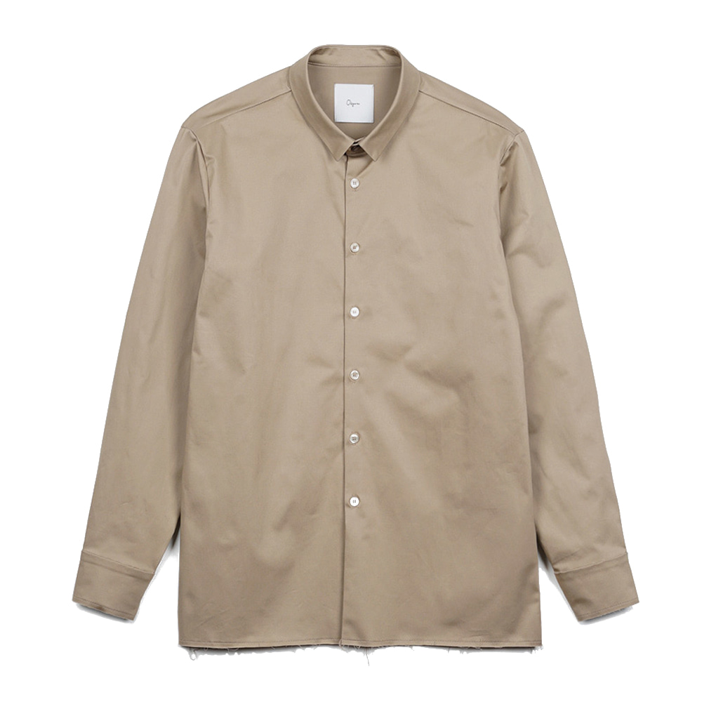 "OOPARTS OPT17FWSH01BE French narrow collar shirt ""Beige"""