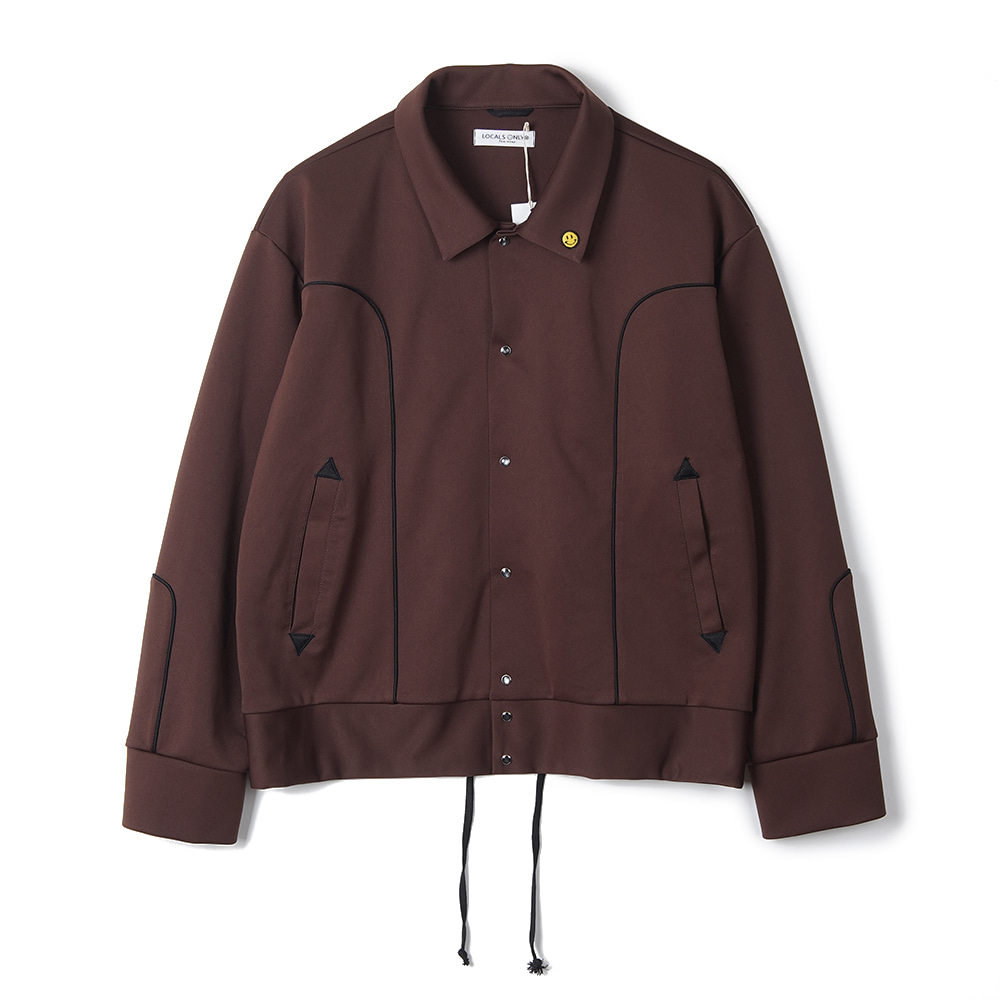"LOCALS ONLY New Generation Western Track Jacket ""Brown/Black"""