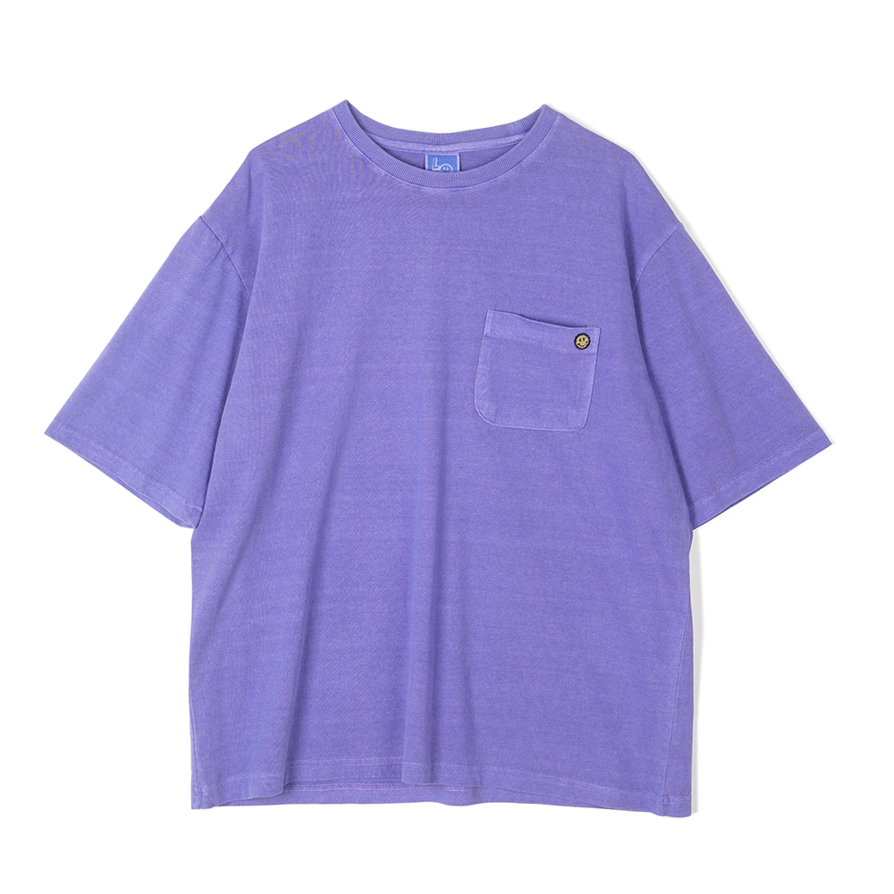"LOCALS ONLY Garment Dyed Pocket T-shirts ""Purple"""