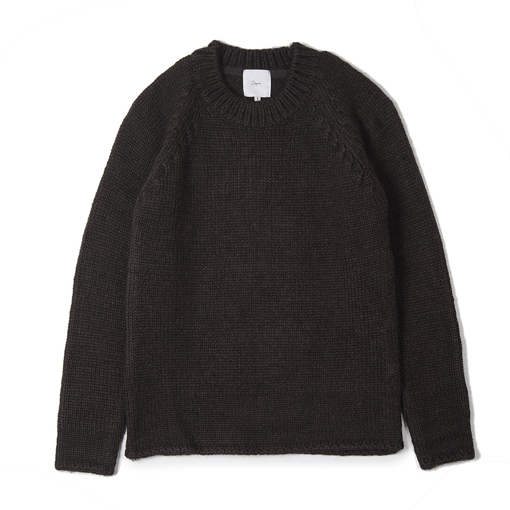 "OOPARTS Round-neck sweater ""Brown"""