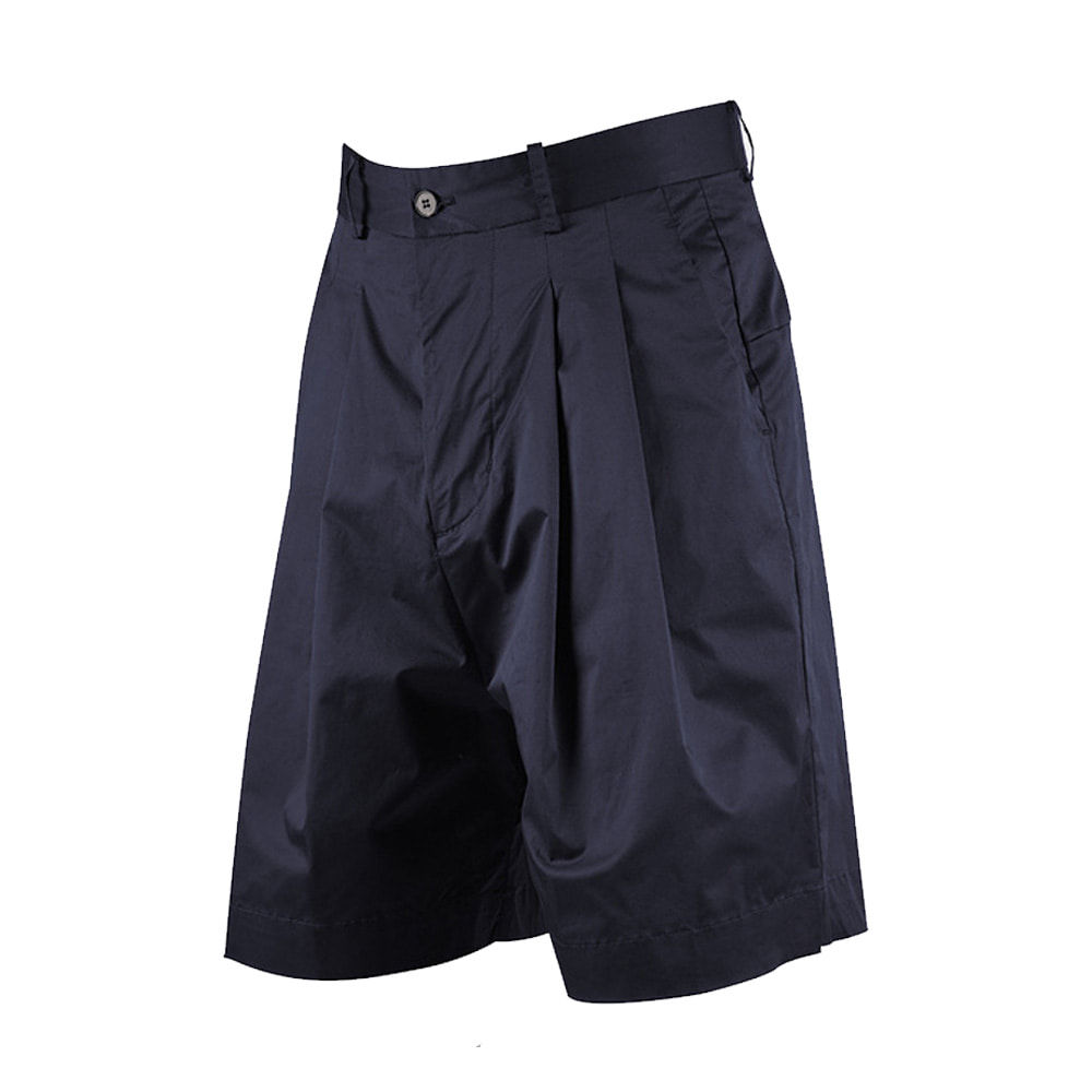 "OOPARTS wide-leg short pants ""Navy"""