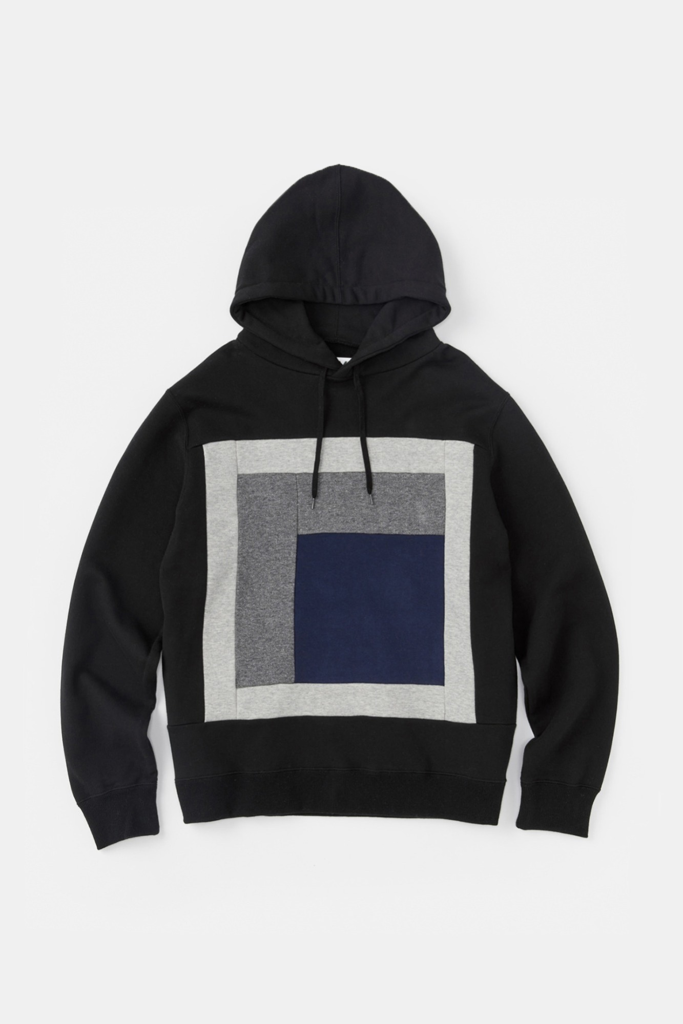 "ALOYE Color Blocks Hoodie ""Black"""