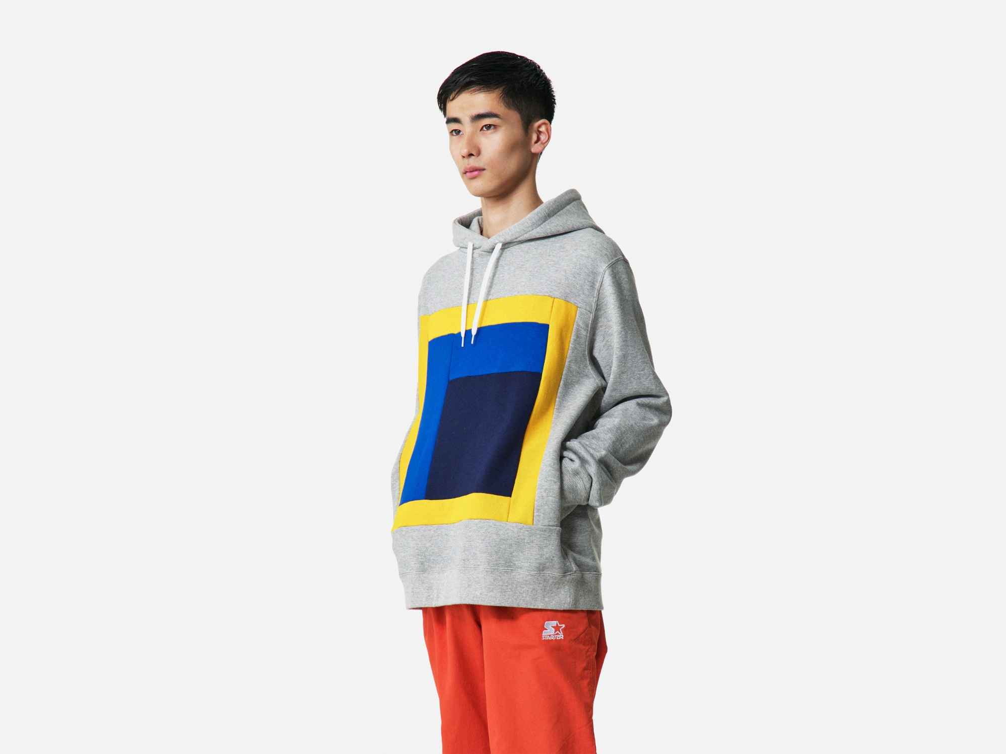 "★ALOYE Color Blocks Hoodie ""Heather Grey"""