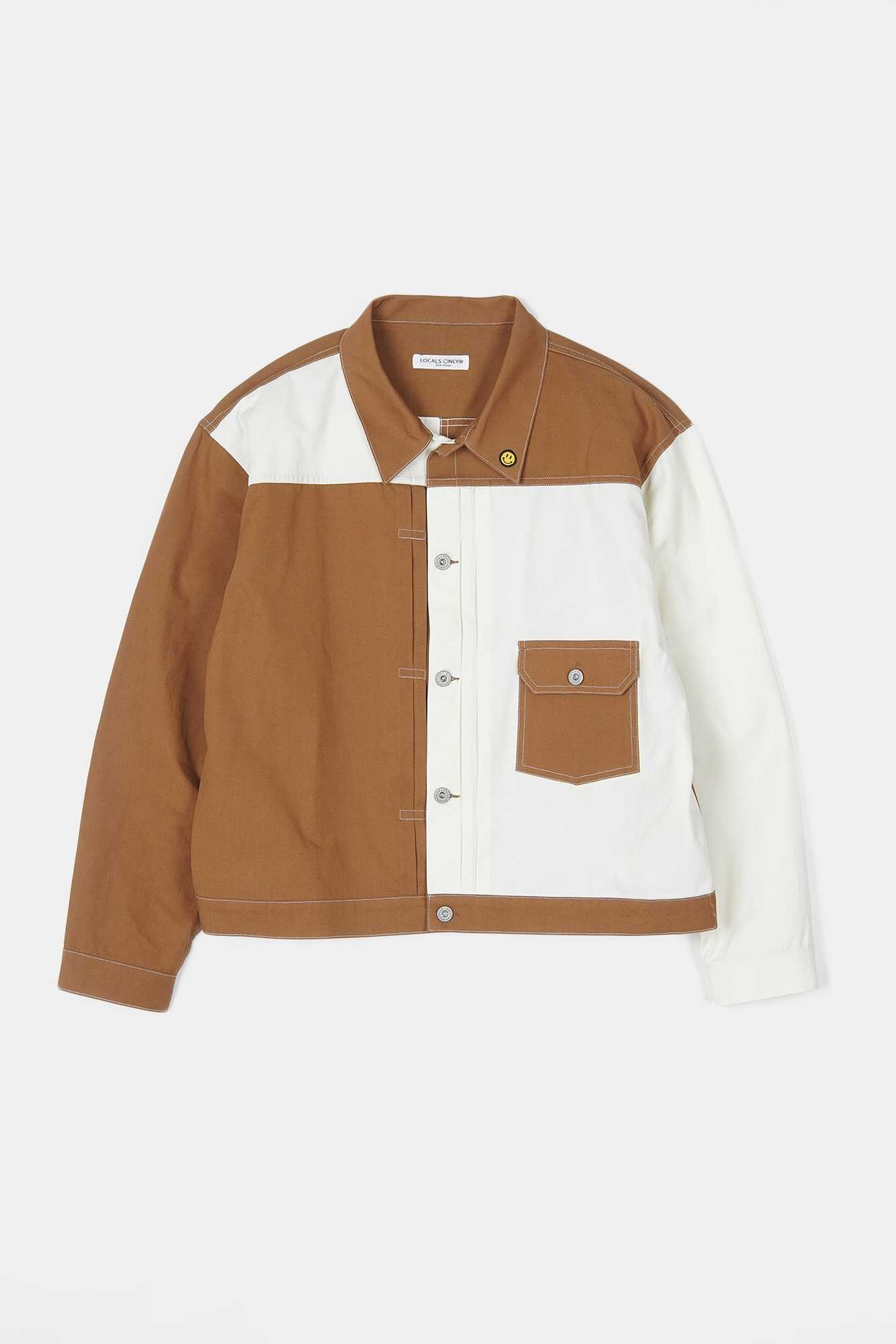 "LOCALS ONLY Two Face 1ST Jacket ""Natural/Brown"""