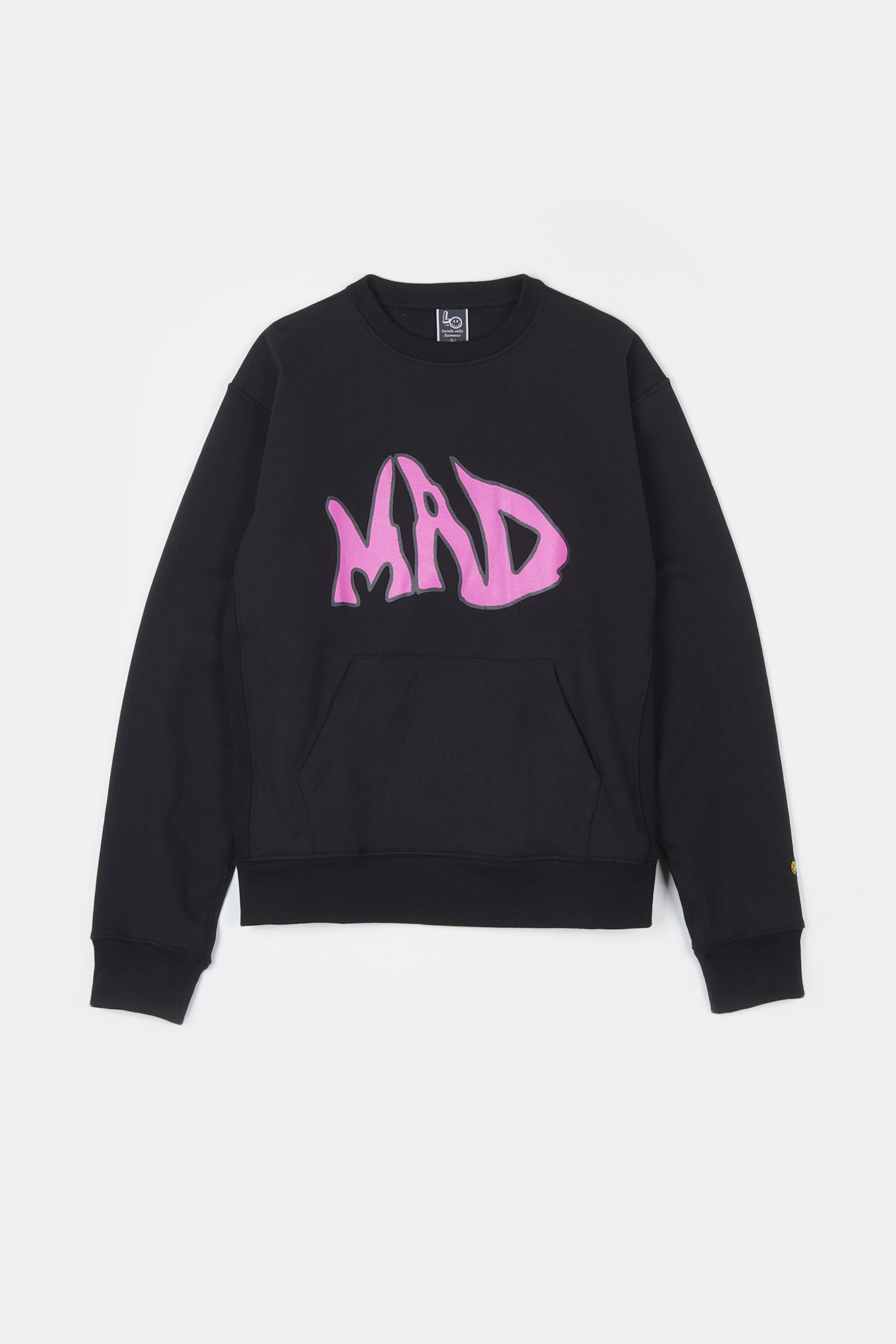 "LOCALS ONLY MAD Pocket Sweat Shirts ""Black"""