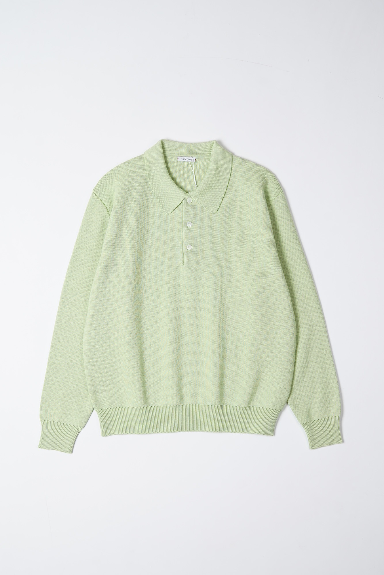 "TRICOTER Low Gauge Polo Knit ""Mint Green"""