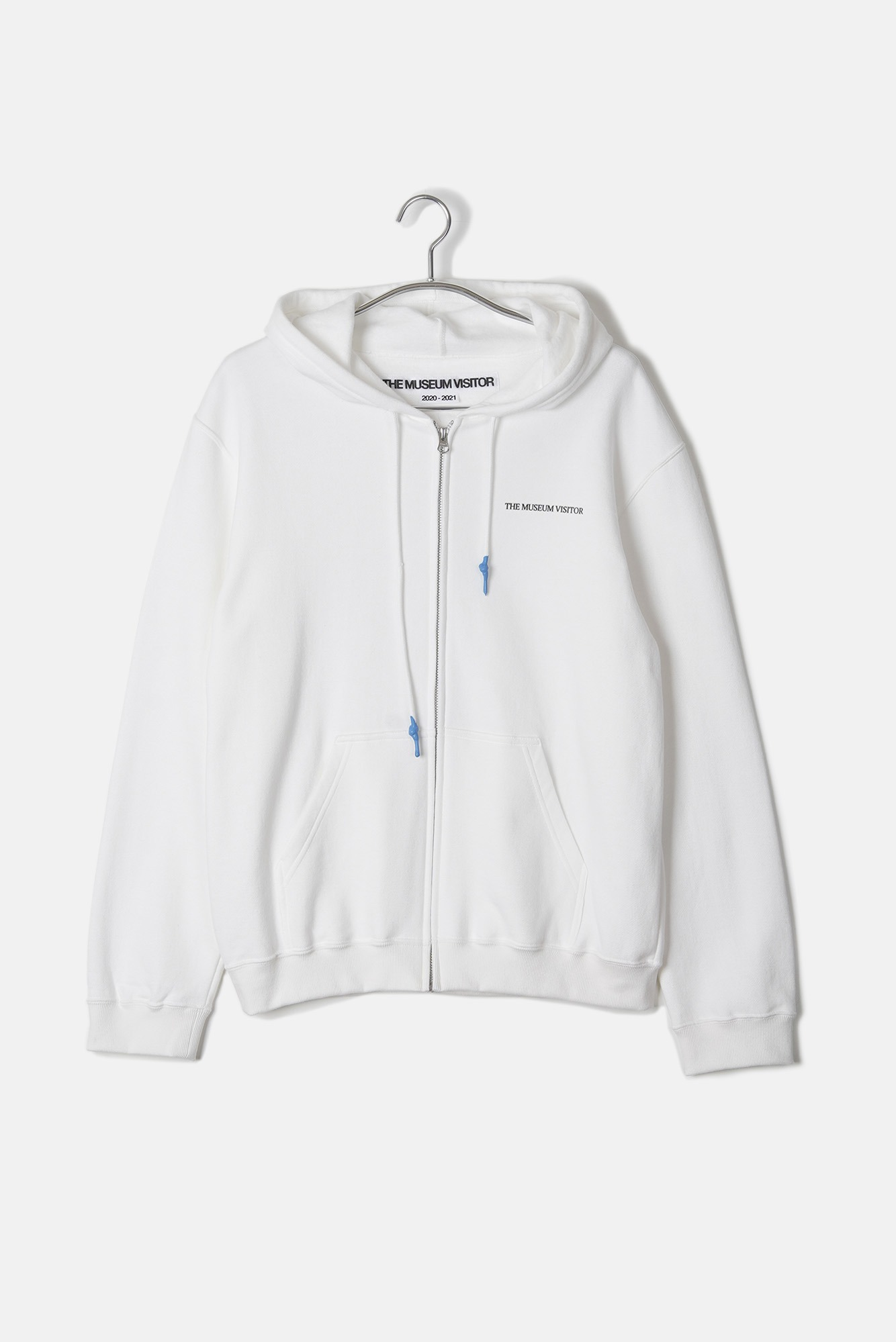 "THE MUSEUM VISITOR Dip String Hoody ""White"""