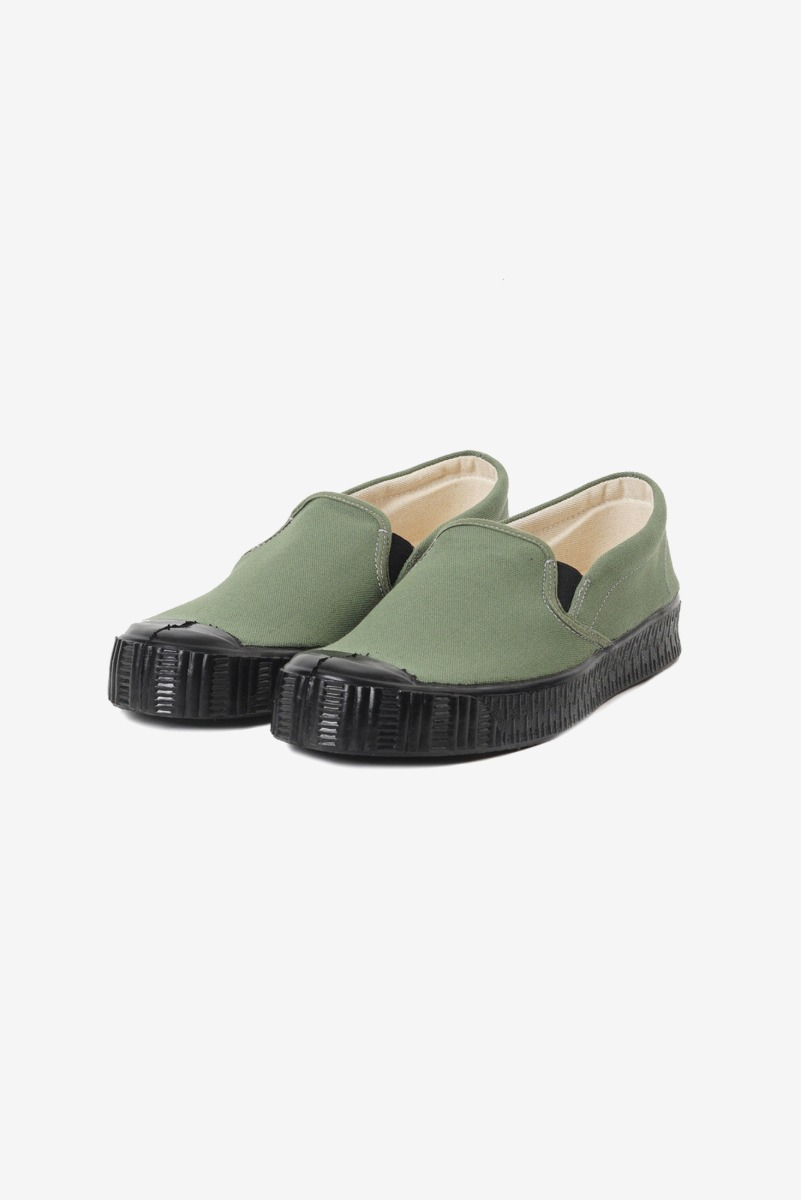 Army Slipon Olive Canvas/Black