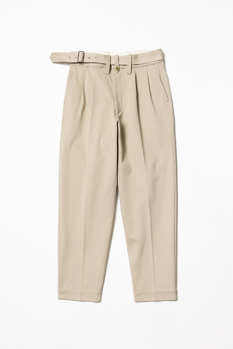 "HAVERSACK Cavalry Twill Belted Pant ""Beige"""