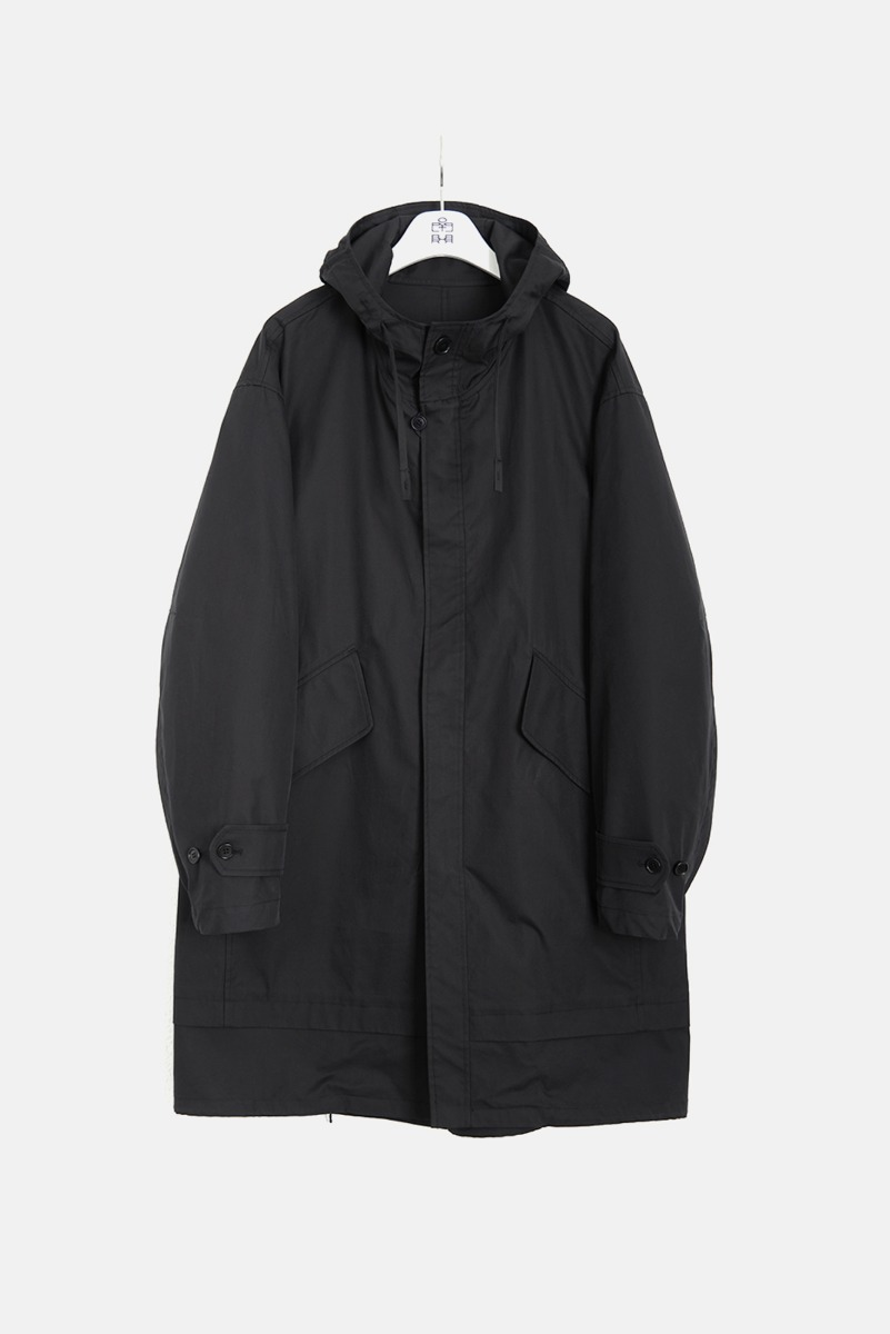 "POLYTERU Layered Fishtail Parka ""Black"""