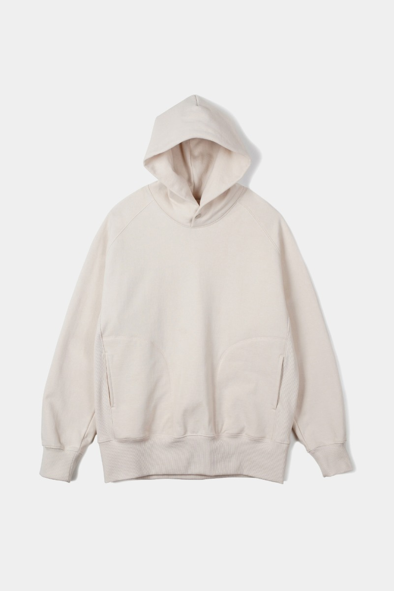 "OOPARTS Cover Stitch Snap Hoodie ""Cream"""
