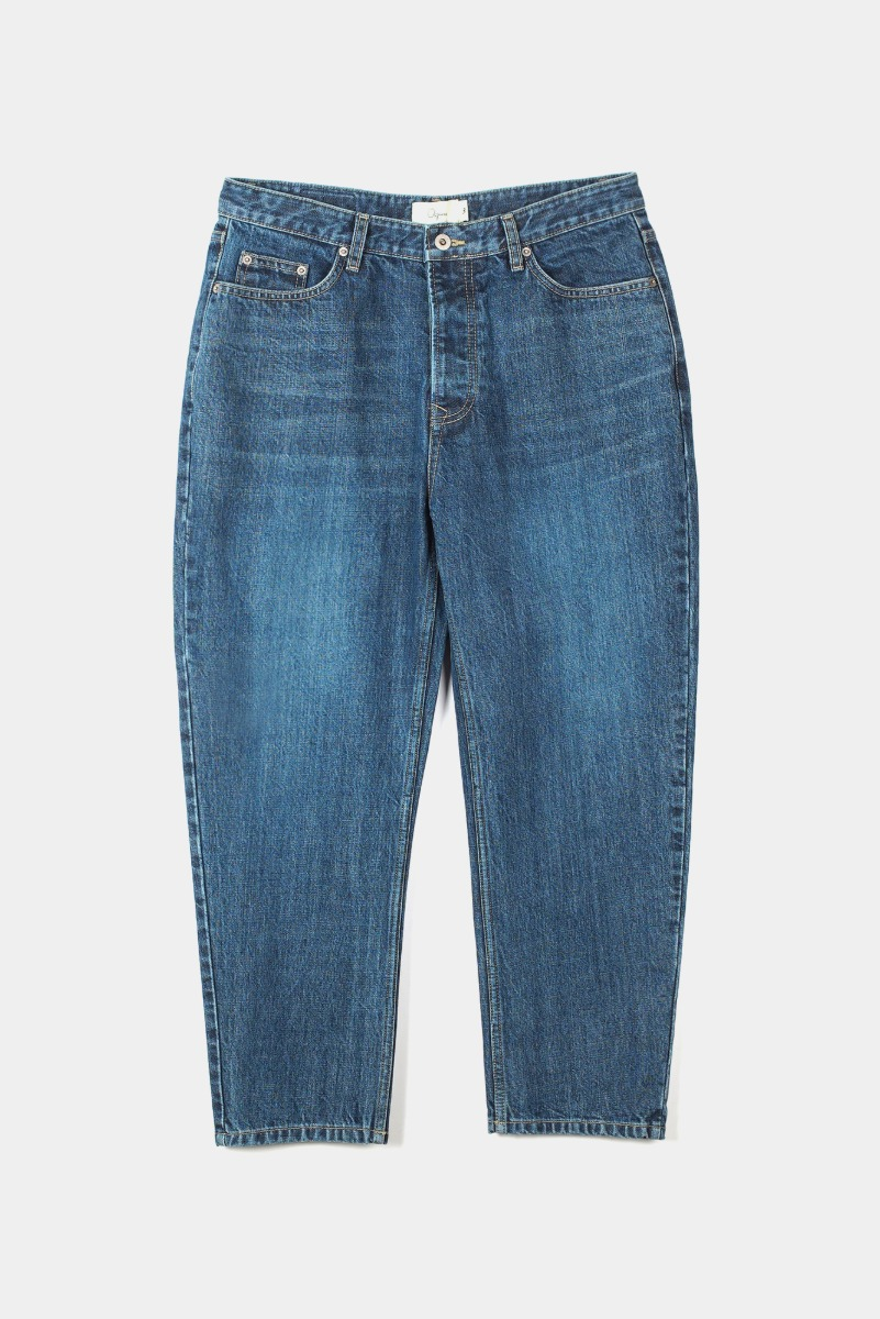 "OOPARTS Curvy Silhouette Washed Jeans ""Indigo"""