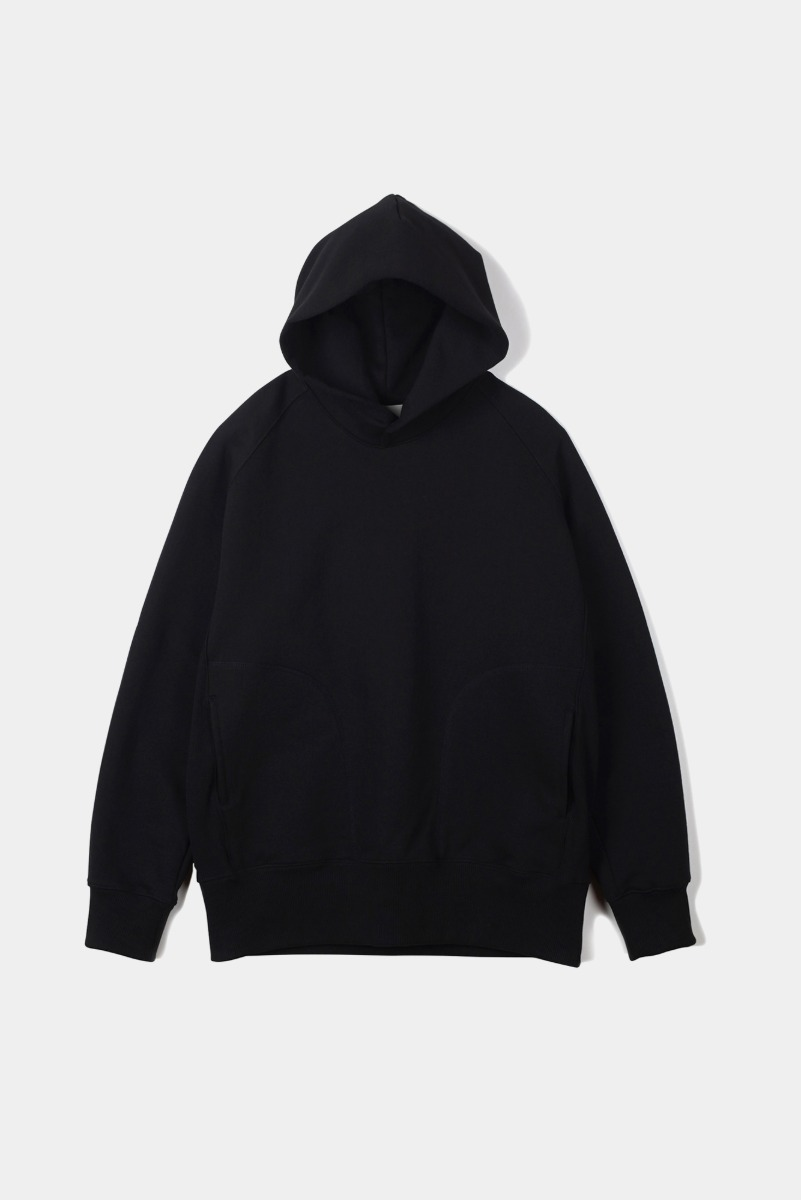 "OOPARTS Cover Stitch Snap Hoodie ""Black"""