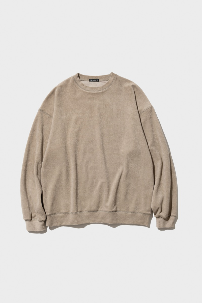 "Nocle Relax Terry Crew Sweat ""Beige"""