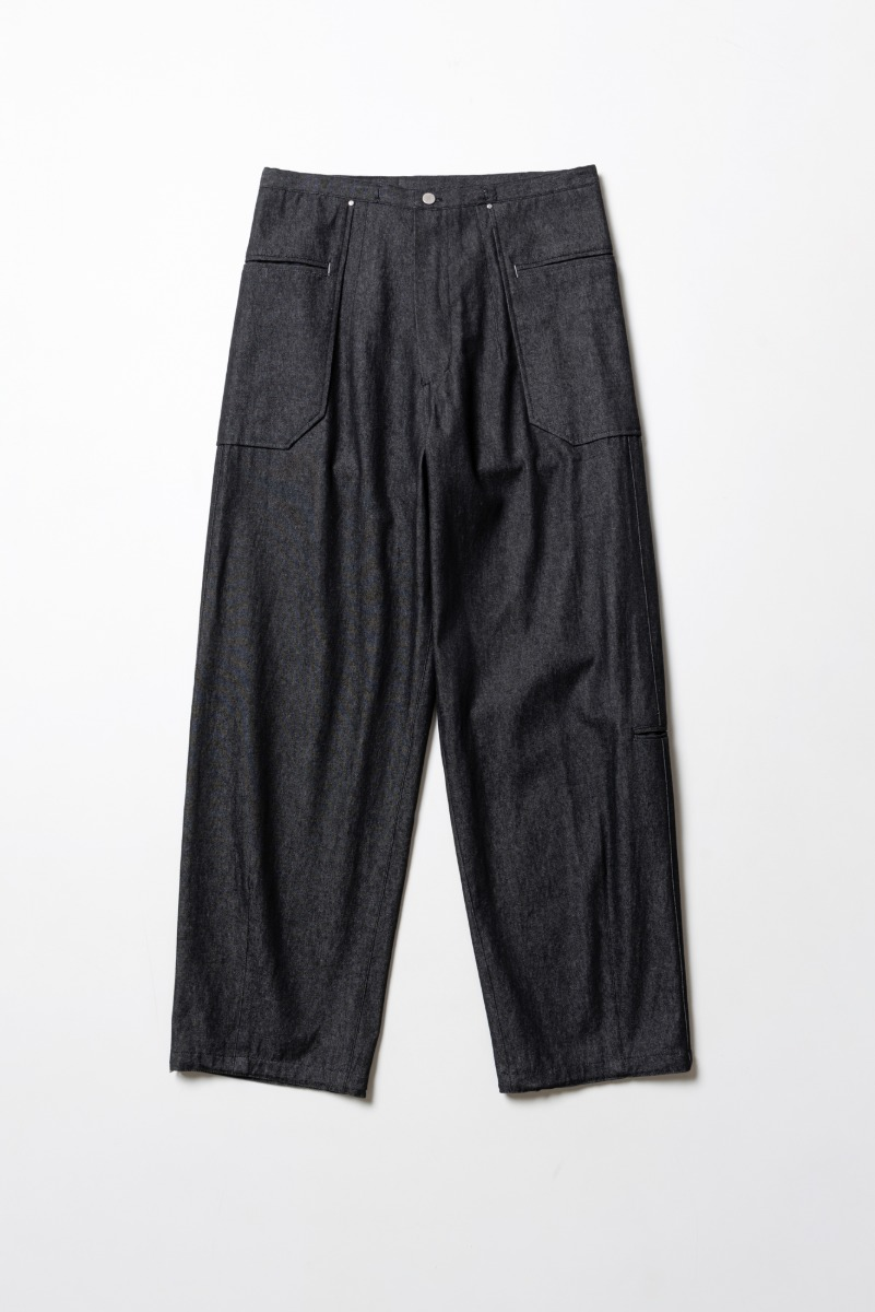 "POLYTERU Liso Pants(Denim) ""Black"""