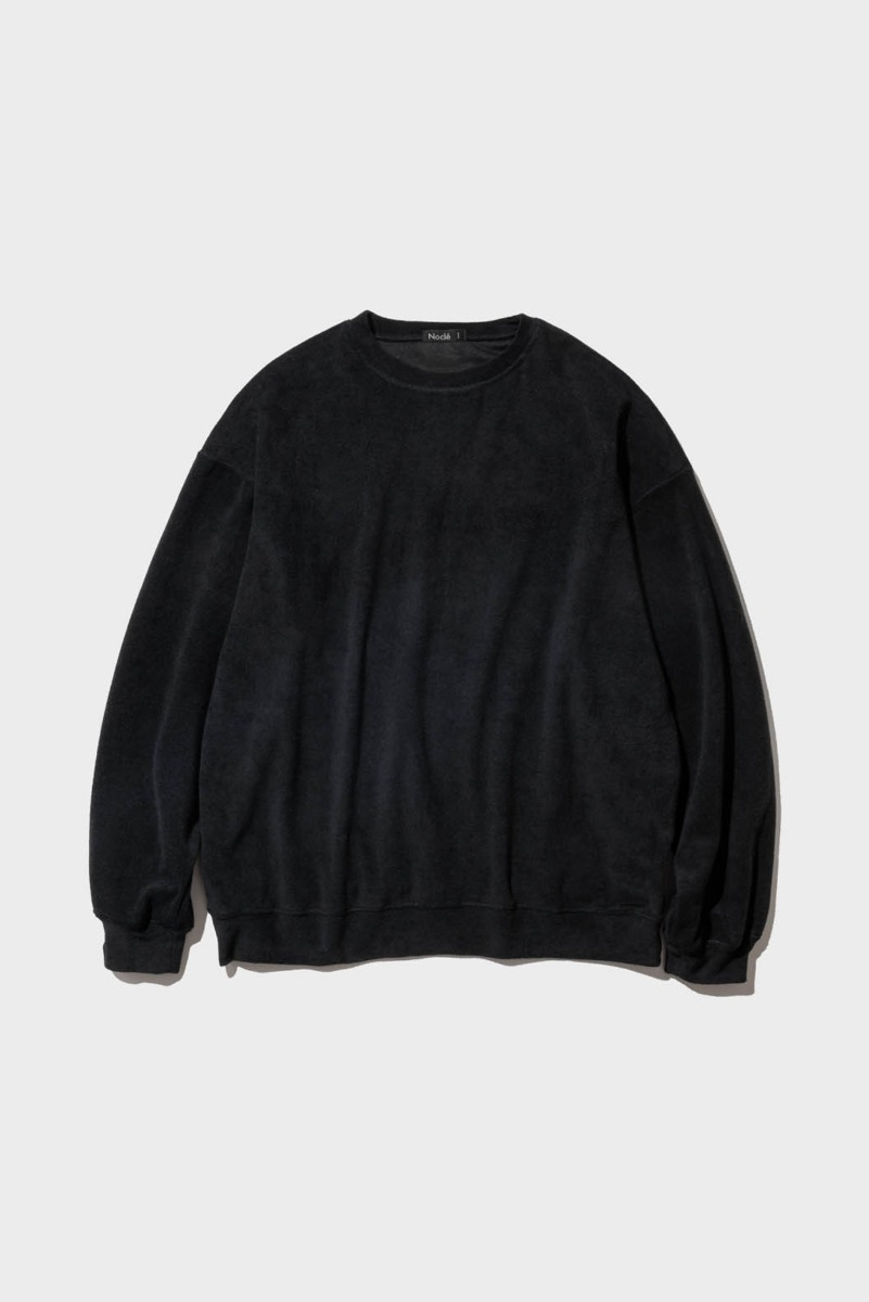 "Nocle Relax Terry Crew Sweat ""Black"""