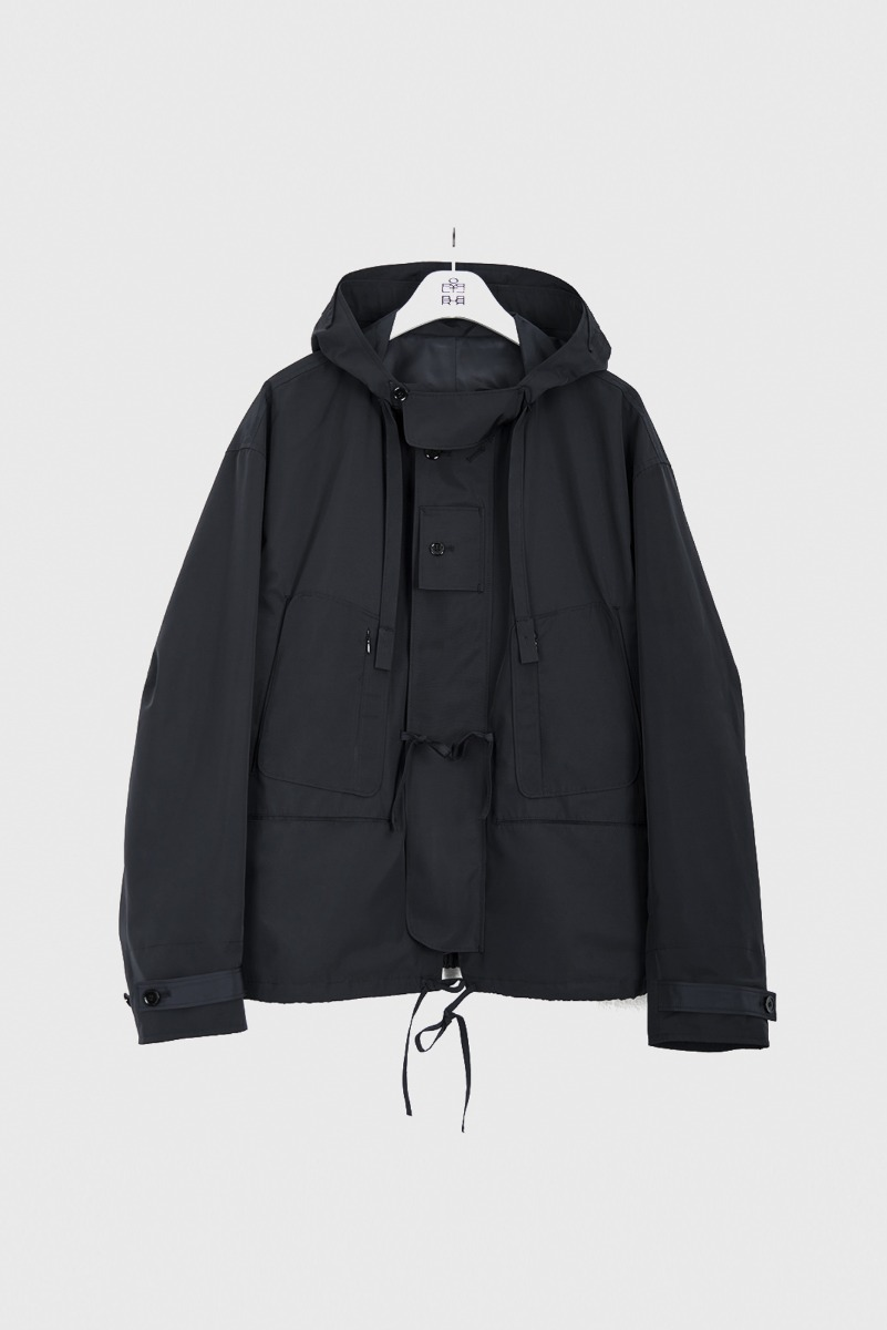 "POLYTERU Hooded Parka ""Dark Navy"""