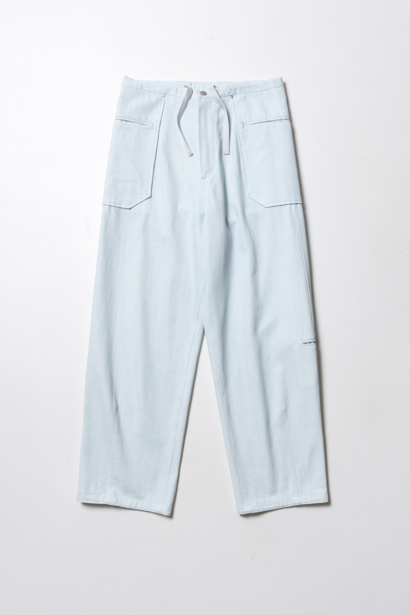 "POLYTERU Liso Pants(Denim) ""Ice"""
