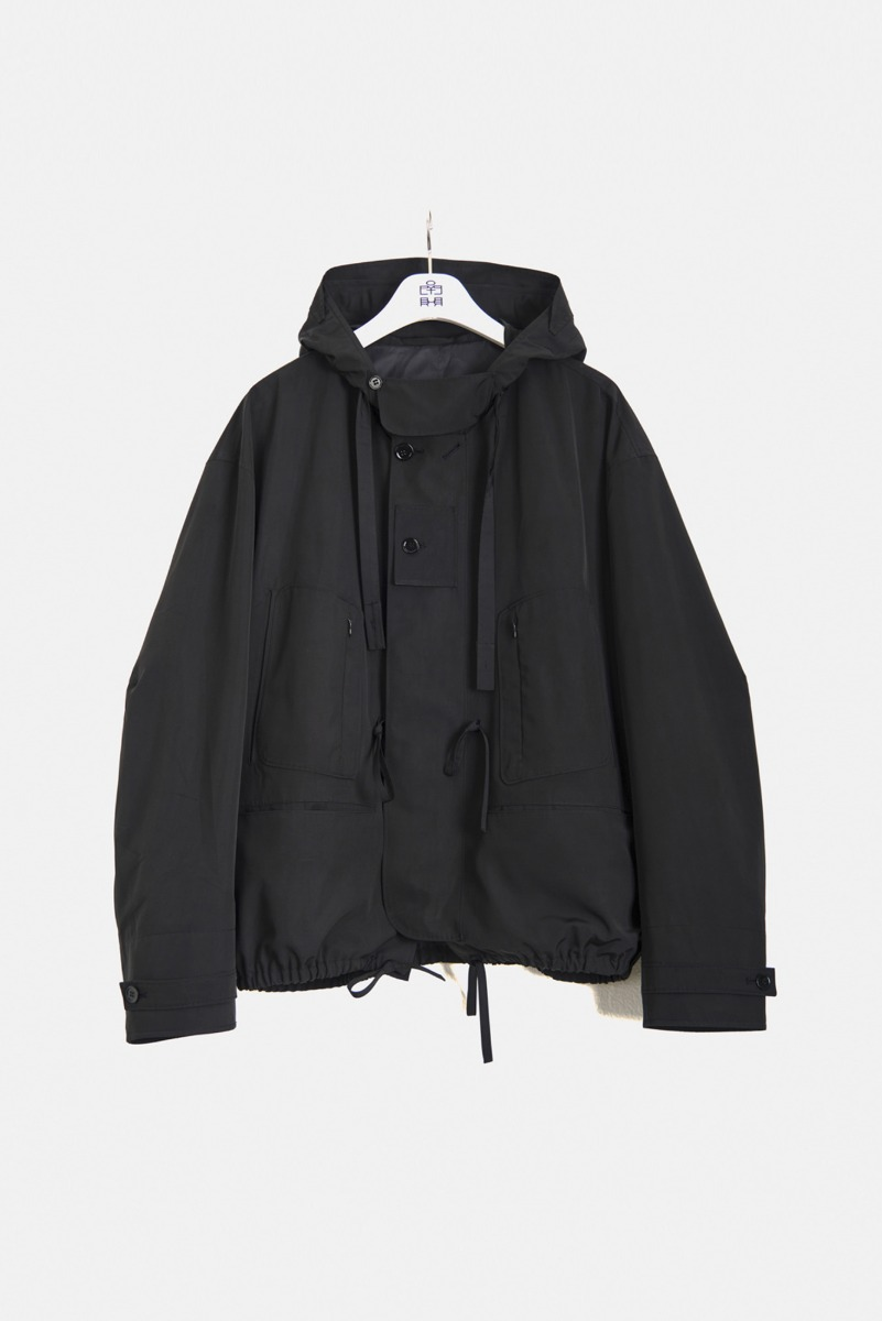 "POLYTERU Hooded Parka ""Black"""
