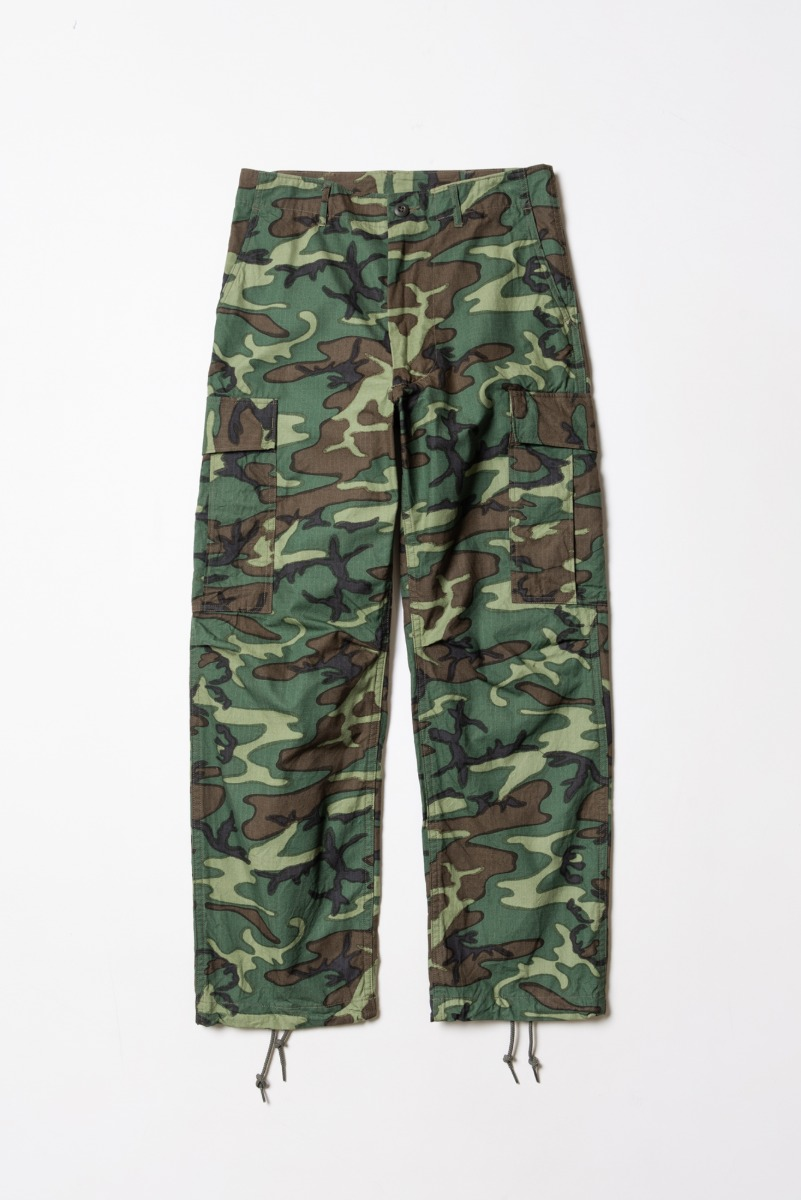 "BUZZRICKSON'S Trouser, Man's Camouflage Cotton Wind Resistant Poplin Class 2 ""Camouflage"""