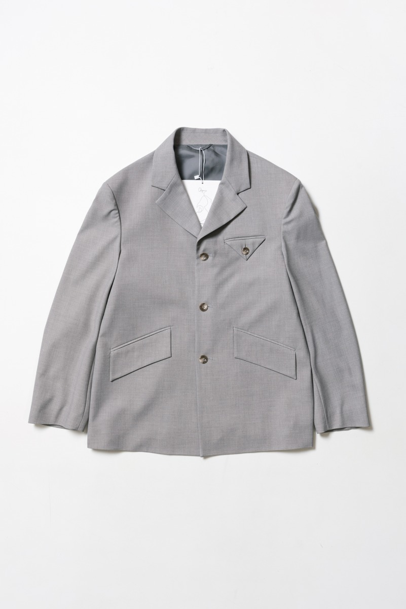 "OOPARTS Over-sized 3-Button Blazer ""L.Grey"""