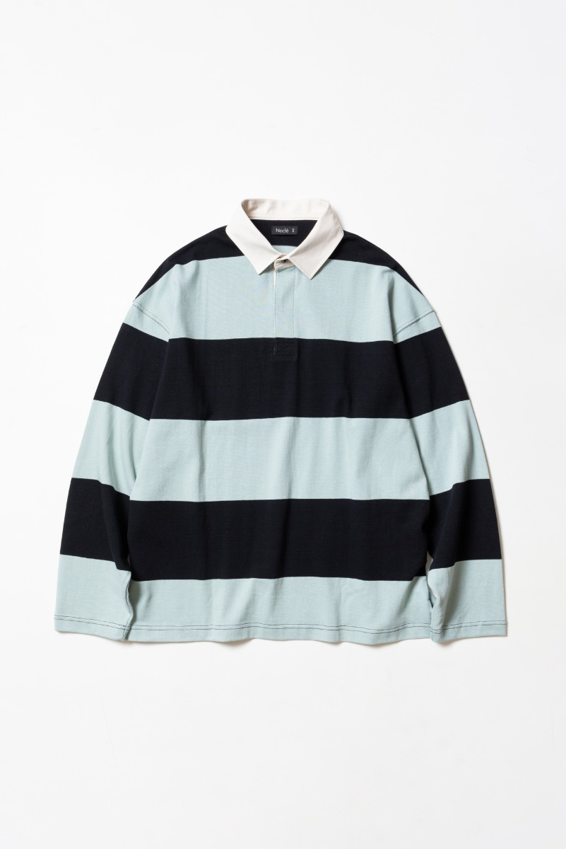 "Nocle Wide Border Rugby Shirts ""Mint/Black"""