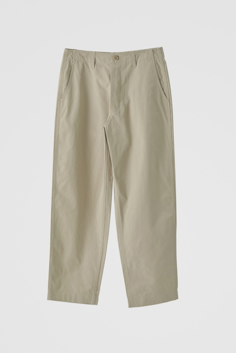 "HOMLY Washed Twill Pants ""Beige"""